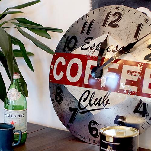 コーヒー アドバタイジング ウォールクロック
