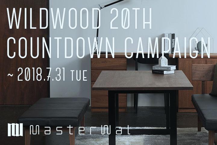 マスターウォール20周年カウントダウンキャンペーン